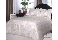 Покрывало Arya Gold Colombo-2 белого цвета с наволочками