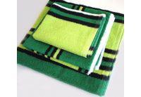 Полотенце махровое SoundSleep. Зелено-черное