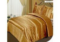 Покрывало Arya Hanimeli-2 медового цвета с наволочками