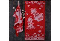 Махровое полотенце Речицкий текстиль. ВЕТКА САКУРЫ розовое