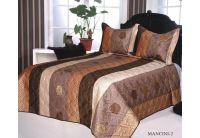 Покрывало Arya Эконом Mancini-2 коричневого цвета с наволочками