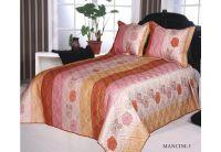 Покрывало Arya Эконом Mancini-3 персикового цвета с наволочками