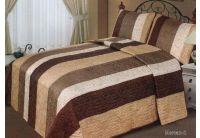 Покрывало Arya Mercan-2 коричневого цвета с наволочками