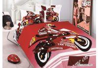 Arya, Motorbike red, 1,5-спальный комплект белья, сатин