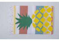 Пляжное полотенце Barine. Pestemal Ananas Yellow-turkuaz-orange