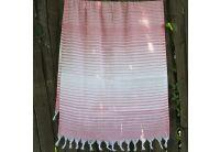 Пляжное полотенце Lotus. Pestemal Pink 06 Hard stripe