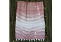 Пляжное полотенце Lotus. Pestemal Black 03 Micro stripe