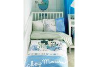 Постельное белье в детскую кроватку ТАС. Mickey Scrib Play, синего цвета