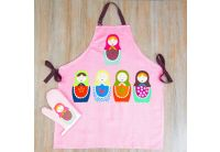 Набор для кухни Barine. Nesting Doll фартук+рукавичка