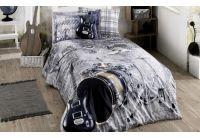 Подростковое постельное белье Hobby. Rock Music бежевое