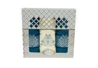 Набор из 3-х махровых полотенец Gulcan. Cotton Venz бирюзовый