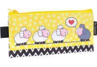 Пенал мягкий 1 Вересня YES. Weekend Love sheeps, косметичка, 21*10