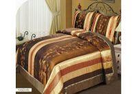 Покрывало Arya Yasemin коричневого цвета с наволочками