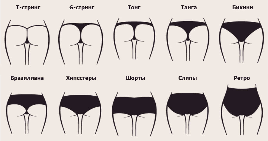 Высокие трусы женские как называются