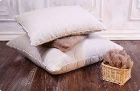 подушка из овечьей шерсти минус